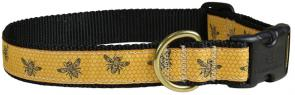 Honey Bees - 1-inch Ribbon Dog Collar