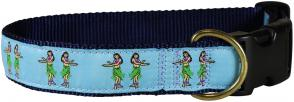 Hula Girls - 1.25-inch Ribbon Dog Collar