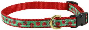 Ladybugs - 5/8-inch Ribbon Dog Collar