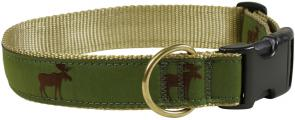 Moose - 1.25-inch Ribbon Dog Collar