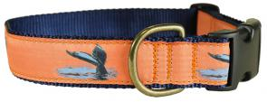 Whale Tail - 1.25-inch Ribbon Dog Collar