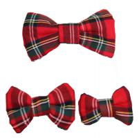 Dog Bow Tie - Red Scottish Tartan