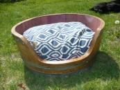 Wine Barrel Dog Bed Small
