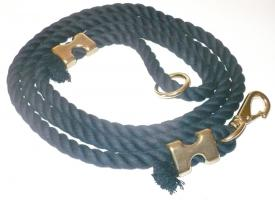 Cotton Rope Dog Leash - Black