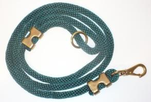 Nylon Dock Line Dog Leash - Green