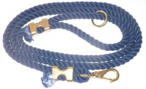 Cotton Rope Dog Leash - Navy Blue