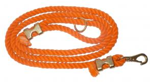 Cotton Rope Dog Leash - Orange