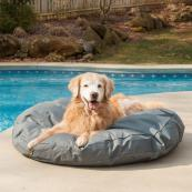 Round Waterproof Dog Bed - 2 Sizes / 5 Colors